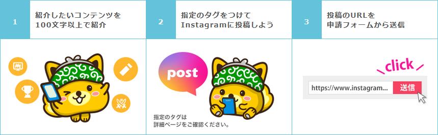 ポイントインカム Instagram投稿キャンペーン コンテンツ紹介
