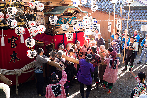 星宮社本地祭に集まった人たち