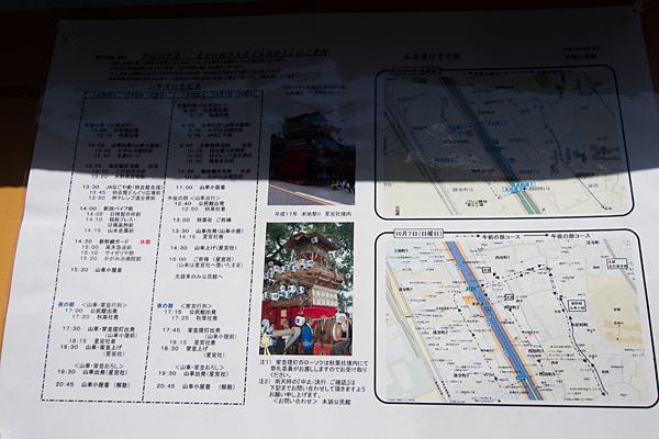 星宮社本地祭予定表とコース