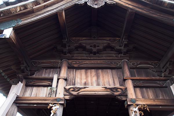 七反野神明社拝殿