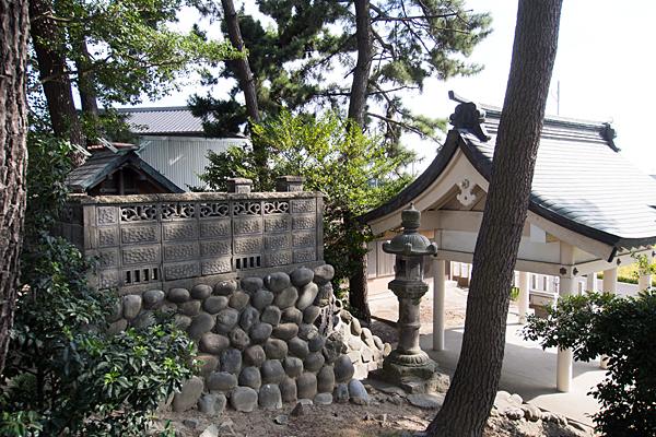 新茶屋秋葉社境内の風景