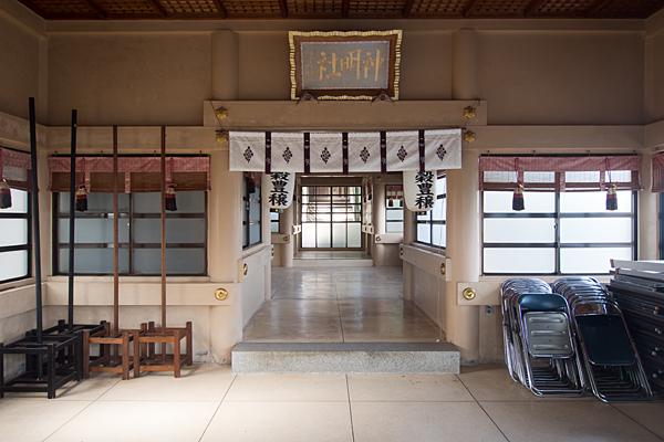 茶屋後神明社拝殿内