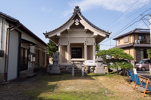 西福田4神明社拝殿