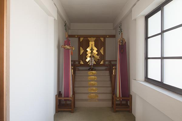 西福田4神明社拝殿内