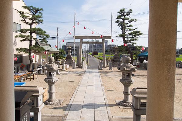 西福田3熱田社境内の風景