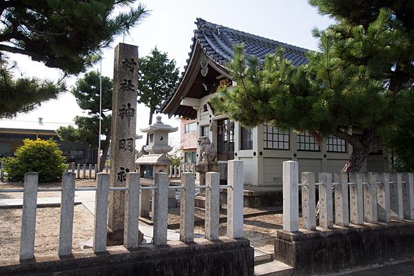 西福田5神明社東入口