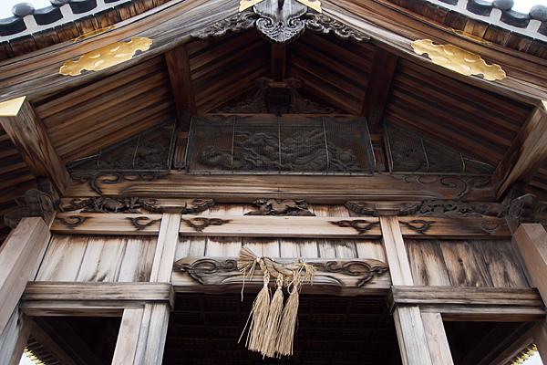 秋葉秋葉社拝殿彫り物