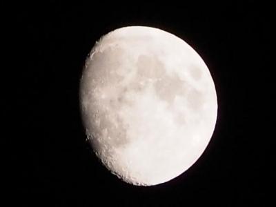 試しに月を撮ってみる