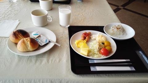 朝食は普通ですが、大根おろしとじゃこが美味しかったな(笑)。