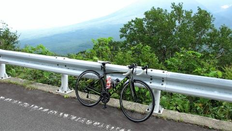 岩手山がどーんと見える所で景色が綺麗なのでちょっと休憩