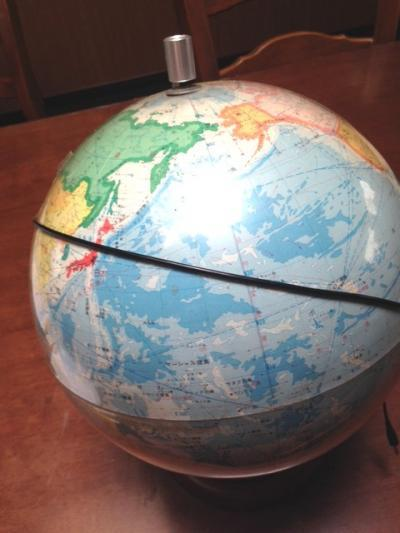 地球儀②加工