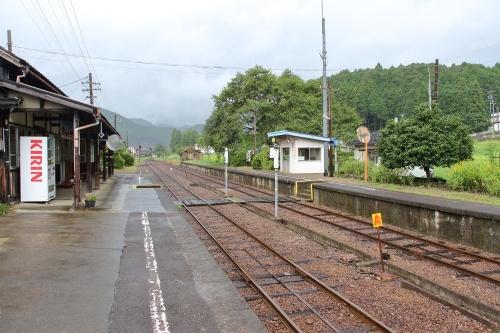 長良川鉄道大家駅構内