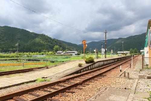 樽見鉄道神海駅ホーム