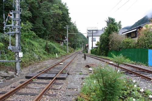 アルピコ交通上高地線 旧島々駅方面