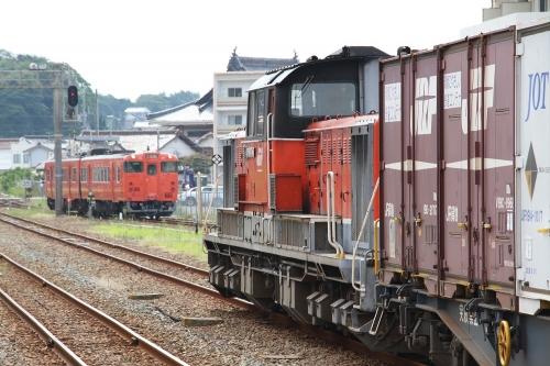 山陰迂回貨物9081レ 浜田駅