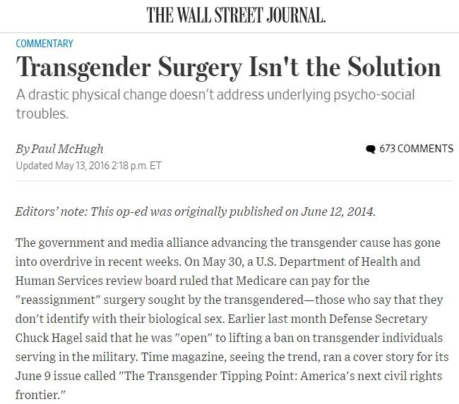 トランスジェンダー WSJ