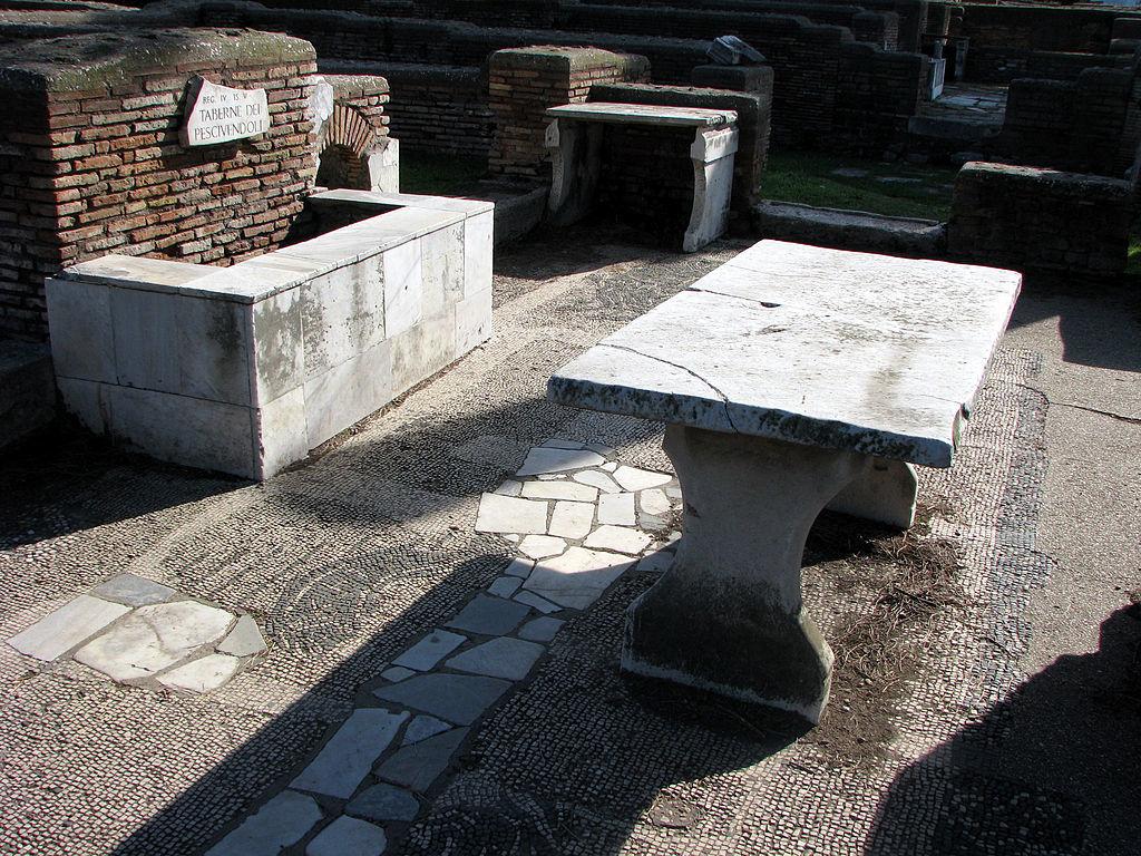 タヴェルナ(大衆食堂)跡(オスティア・アンティカ)