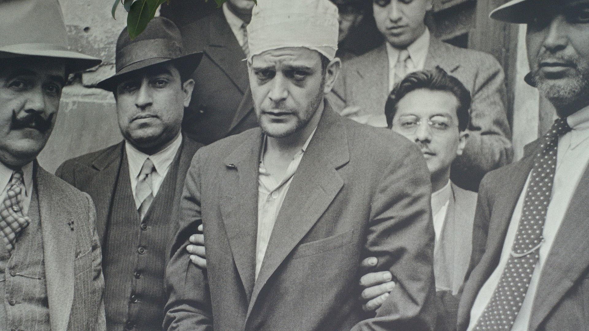 逮捕直後のメルカデル(1940年8月)