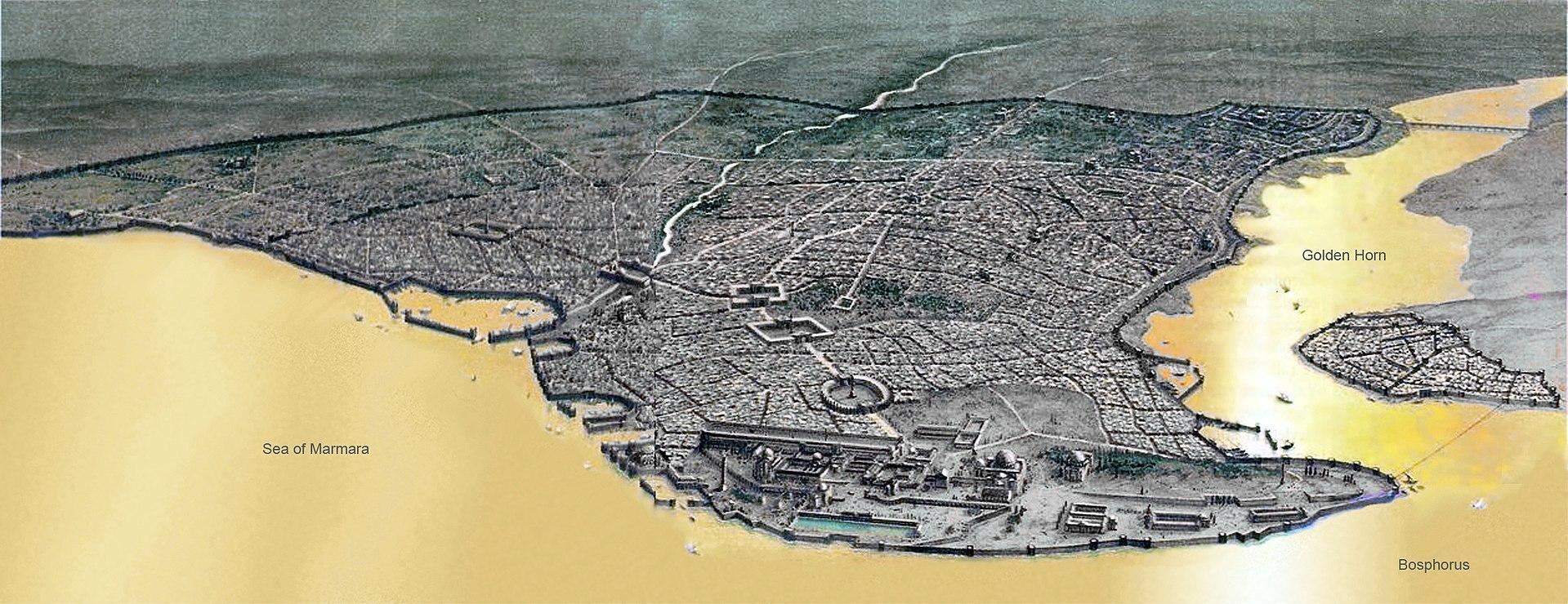 東ローマ帝国時代のコンスタンティノープル