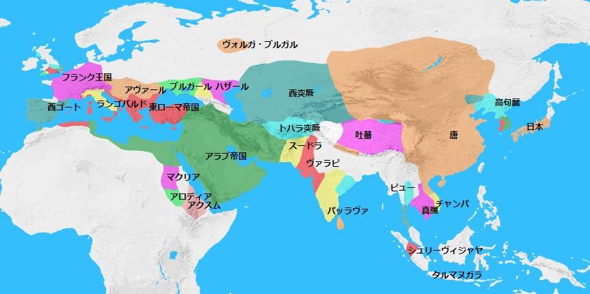 651年頃の世界地図