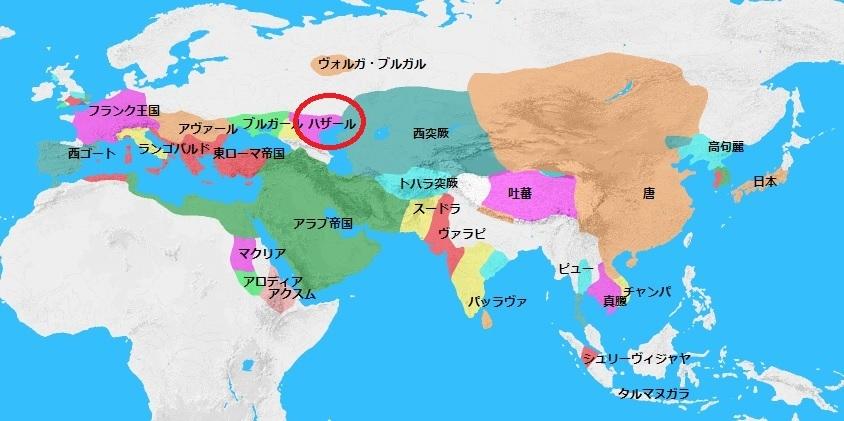 651年頃の世界地図 2