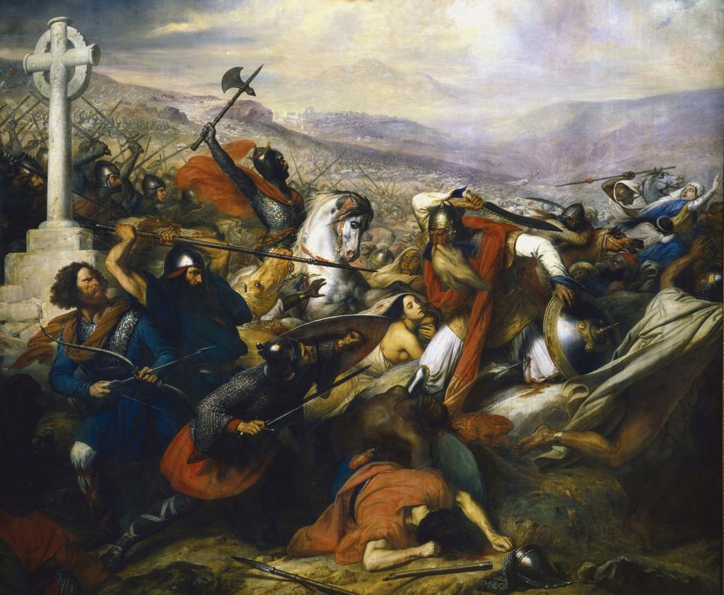 『トゥール・ポワティエ間の戦い』 Charles de Steuben画 1837年