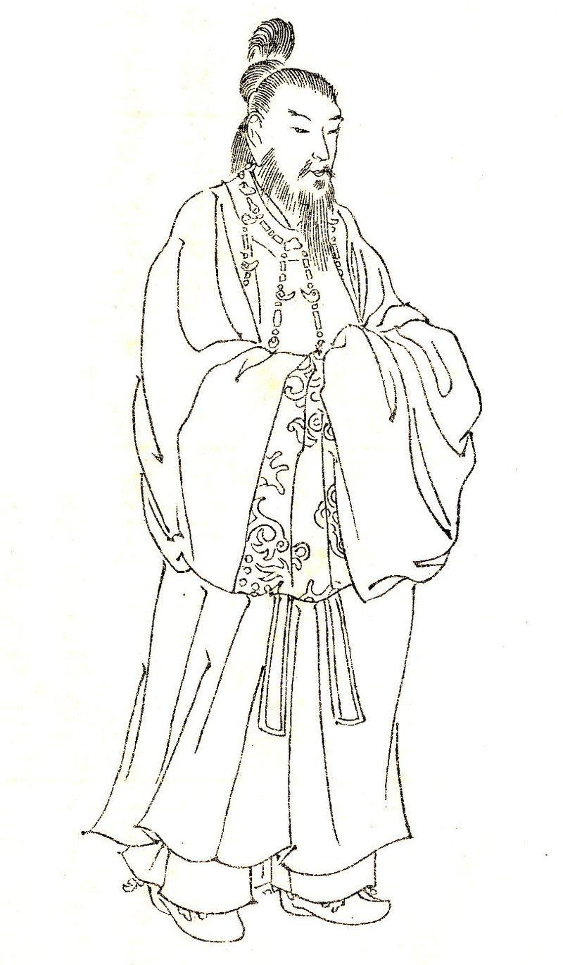 莵道稚郎子(『前賢故実』より)