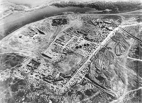 ハザール・カガン国の遺跡(サルケル遺跡Sarkel、830年代に建設。写真は1930年代のもの)