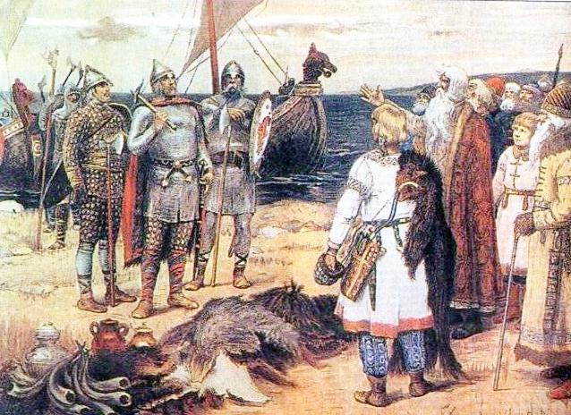 ラドガに到着するリューリク(アポリナリー・ヴァスネツォフ画)