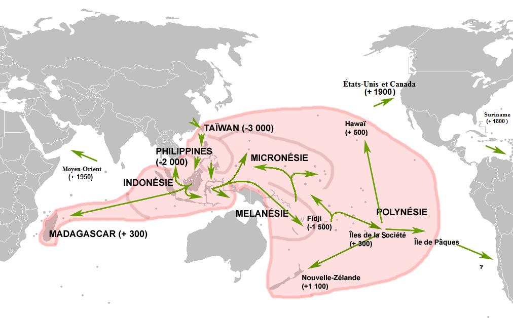 オーストロネシア系民族の拡散