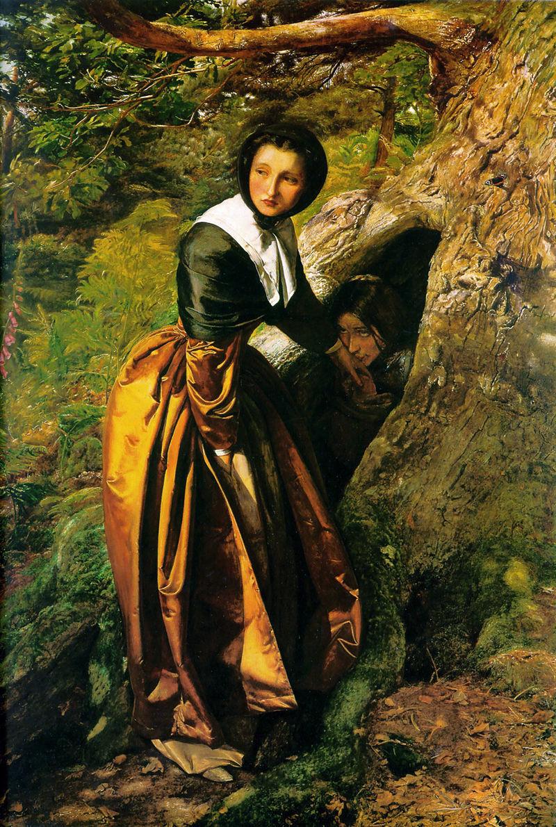 『追放された王党派、1651年』ジョン・エヴァレット・ミレイ画、1863年