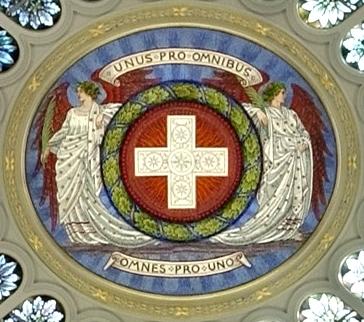 スイス連邦院(ベルン)のドームの中央(全体)。