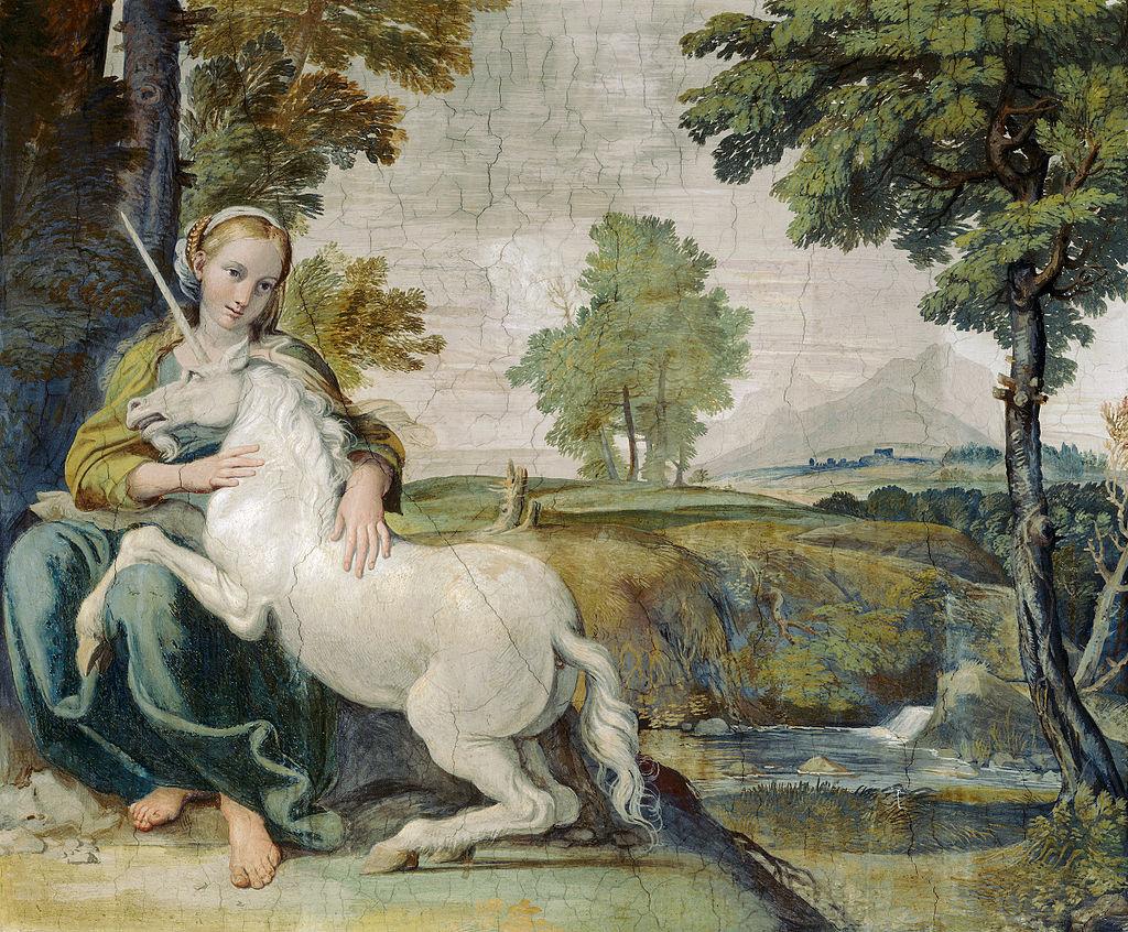 「処女と一角獣」 ドメニコ・ザンピエーリ(1581 – 1641)