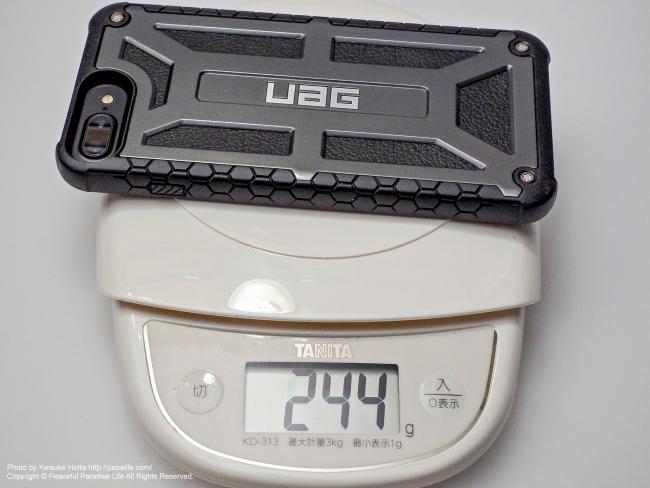 UAG MonarchにiPhone7Plusを装着 重量244g