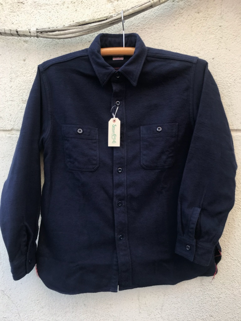 ネイビーな気分。SUGAR CANE SOLID TWILL WORK SHIRT【横田店】