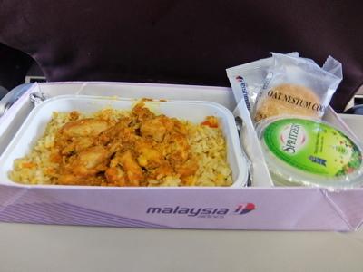 KLブルネイ138マレーシア航空機内食