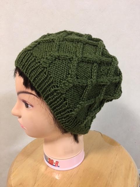 帽子 緑1