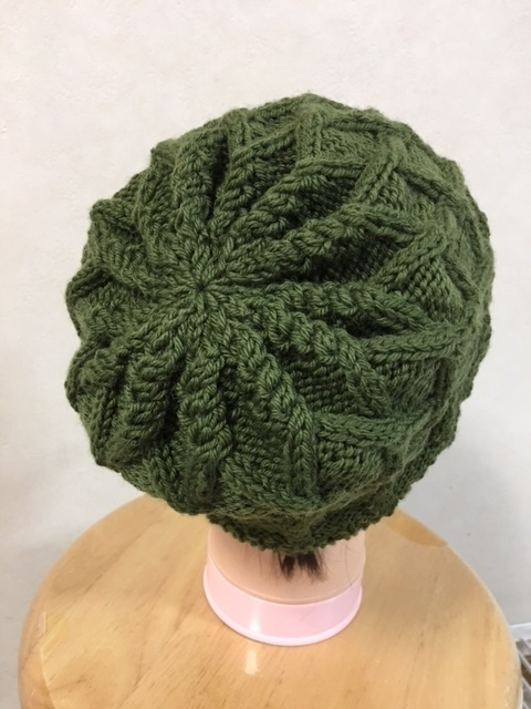 帽子 緑2