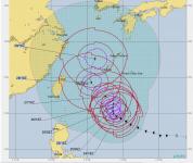 台風24号 米軍予想