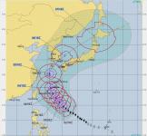 台風25号 18-10-3現在予報