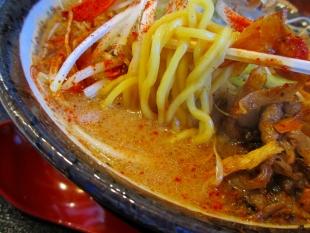まごころ亭 牛肉と牛蒡の吟醸味噌ラーメン 麺スープ