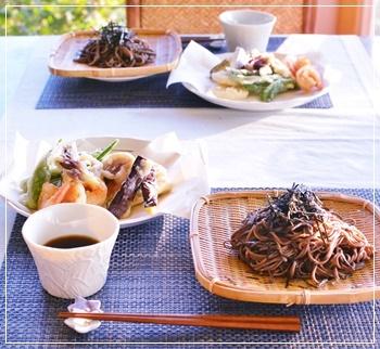 天ぷら蕎麦で夕飯