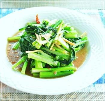 青菜の醤油麹炒め