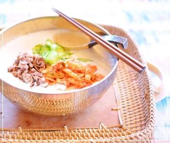 豆腐でスープソーメン