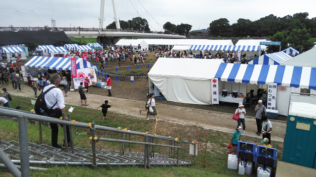 日野の鮎祭会場