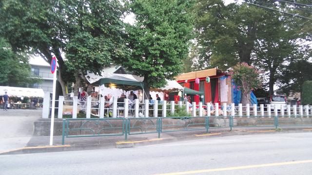 あきる野の神社の舞台