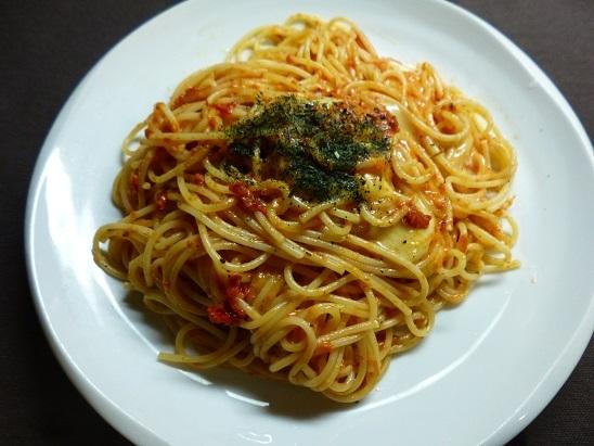 トマトとチーズのパスタ20180814