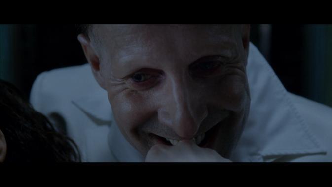 constantine-Peter Stormare as Satan,Lucifer smile