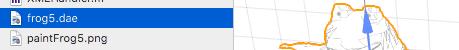 Xcodeに持って来たdaeファイル