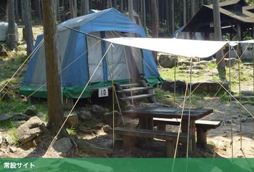 タープ付きテント